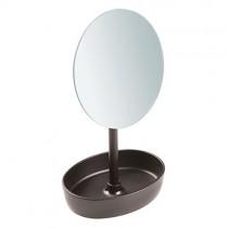 Interdesign, Gina Vanity Mirror, Rotating Tray, Bronze