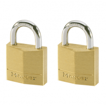 Master Lock, Brass Padlock, Kit of 2 x 30MM