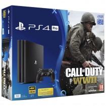 Sony, Playstation 4 Pro, 1 TB, Black With COD WW  II