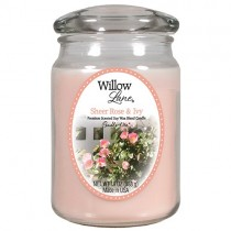 Candle-lite ,Willow Lane  Jar with Soy Wax ,Sheer Rose & Ivy