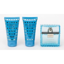 Versace Eau Fraiche Gift Set, Eau De Toilette 50ml + Shower Gel 50ml + After Shave Balm 50ml