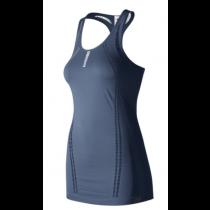 New Balance, Women's New Balance M4M Seamless Breathe Tank, Vintage indigo