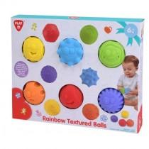 Playgo, Rainbow Textured Balls, 6 pieces