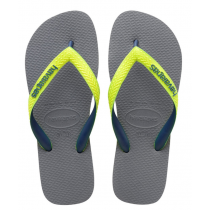 Havaianas, Top Mix Steel Gray Led Yellow 9629, Slippers