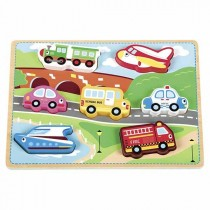Atelier Du Bois, Vehicles Puzzles- 7pcs