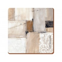 Creative Tops, Neutral Abstract Premium Cork-Backed Coasters, Wood, Brown, 4-Piece