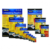 Fellowes, Laminator, Pouch Glossy, 125 Mic, A4, Pack of 100sheets