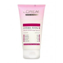 L'Oreal Hydra-total 5 Gel Wash Dry And Sensitive Skin 150ml