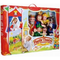Showtime, Hand Puppet With Theatre Snow White and Bea, Exgtra Large, 6 Pieces