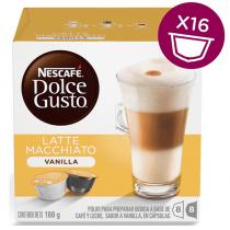 NESCAFE Dolce Gusto Vanilla Latte Macchiato Coffee Capsules (16 Capsules, 8 Cups)