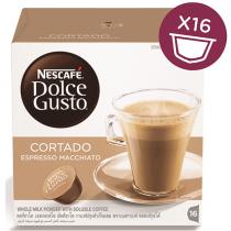 NESCAFE Dolce Gusto Espresso Machiato, Cortado Coffee Capsules (16 Capsules, 16 Cups)