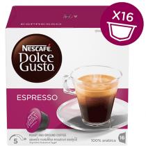 NESCAFE Dolce Gusto Espresso Coffee Capsules (16 Capsules, 16 Cups)