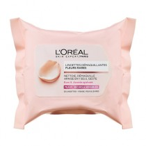 L'Oreal Fine Flowers Cleansing Wipes Dry And Sensitive Skin 25 Wipes
