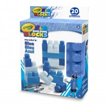 Crayola, Work My Color Is Blue 20pc Set.