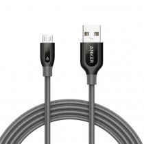 Anker PowerLine+ Micro USB Cable 6ft - Space Gray