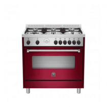 La Germania Cooker, Cast Iron Grids, Full Safety Burgundy