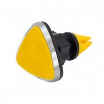 Universal Triangle Magnetic Rotating Mobile Car Air Vent Cradle Mount In Yellow, AirventSABY