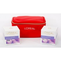 L'Oreal Age Collagen Gift Set,Age Collagen Day Cream 50 ml+Age Collagen Night Cream 50 ml+Trendy Pouch