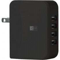 Case Logic 4 USB Universal Wall Charger, Black