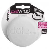 Dotz Cord Wrap for Cord and Cable Management, Whiteÿ - CWOS30M-CW