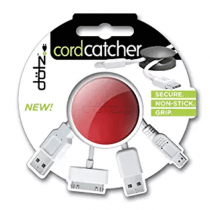 Dotz Cord Catcher for Cord and Cable Management, Red - DCC40M-CR