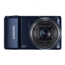 "Samsung WB250F 14.2MP CMOS Smart WiFi Digital Camera with 18x Optical Zoom, 3.0"" Touch Screen LCD and 1080p HD Video (Cobalt Black)"