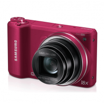 "Samsung WB250F 14.2MP CMOS Smart WiFi Digital Camera with 18x Optical Zoom, 3.0"" Touch Screen LCD and 1080p HD Video (Red)"