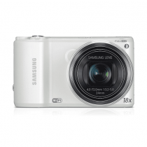 "Samsung WB250F 14.2MP CMOS Smart WiFi Digital Camera with 18x Optical Zoom, 3.0"" Touch Screen LCD and 1080p HD Video (White)"
