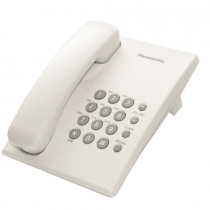 Panasonic Corded Phone DECT, 50 station caller ID memory, White - KXTS500MXW
