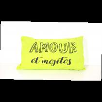 Ligne Décor 2017, Printed Pacifique Green Mojitos Cushion, 30 x 50 cm