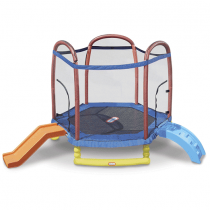 Little Tikes 7foot Climb N Slide Trampoline with Enclosure