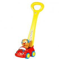 Fisher-Price Laugh & Learn Puppy's Smart Stages Push Car, French