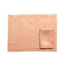 Ponti Home, Foglia Orange placemat, Set of 2