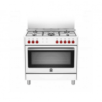 La Germania Cooker, Cast Iron grids, new hinges, dishwarmer, Oven Safety,   White