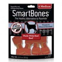 SmartBones Beef classic bone chews, Medium, 4 pieces