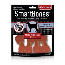 SmartBones Beef classic bone chews, Medium,4 pieces