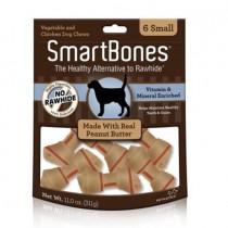 SmartBones Peanut Butter classic bone chews, Small, 6 pieces