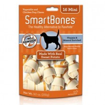 SmartBones Sweet Potato classic bone chews, Mini, 16 pieces