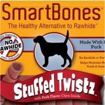 SmartBones Pork Stuffed Twistz Innovative chews, 6 pieces
