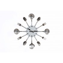 Aria, Stainless Cutlery Clock