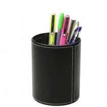 Hipce, Pen Holder Leather, Round, Pack of 1