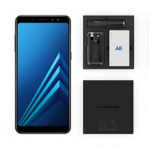 Samsung Galaxy A8(2018), Dual Sim, 4 GB Ram, 64 GB 4G LTE With a Free Selfie Stick, Screen Protector, Ring Tok Cover and 2in1 Cable