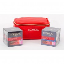 L'Oreal Revitalift Laser Gift Set, Revitalift Laser Day Cream+Revitalift Laser Night Cream+Trendy Pouch
