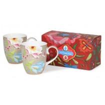 Pip Studio, Chinese Garden Set of 2Large Porcelain Mugs 350ml,KHAKI