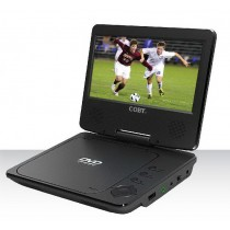 "Coby Portable  DVD/CD/MP3 Player 9"", Black - D14"