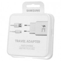 Samsung, Adaptive Fast Charging Travel Adapter with USB Type-C Cable EP-TA300CWEG EU 2 Pin, White