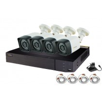 QSEE 4 Channel HD 1080P 4 IN 1 Hybrid DVR With 4 Pack 720P AHD Bullet Cameras QTH94-4Z3
