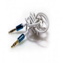 ICONZ Rubberized Jack AUX Cable with Chrome plug 1 m- Blue