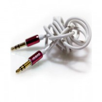 ICONZ Rubberized Jack AUX Cable with Chrome plug 1 m