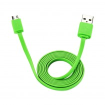 ICONZ Flat micro USB Cable 1.2 m rubberized finishing-Green